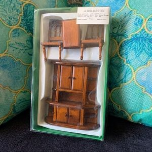 Vintage Handmade Wooden Dollhouse Furniture
